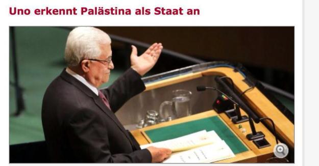 Palästina ist als Staat anerkannt !!!