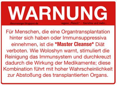 Master Cleanse Diat Pro Ana Die Geschichten Einer Kraeutermume